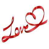 łęków prezenta miłości tasiemkowy romantyczny wektor Obraz Stock