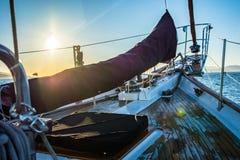Łęk żeglowanie jacht Fotografia Stock