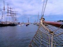 Łęk żeglowanie statek Zdjęcia Royalty Free
