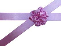 łęk krzyżował różowego kwiatu faborek Obrazy Stock