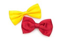 łęk odizolowywający czerwony krawat Obraz Stock