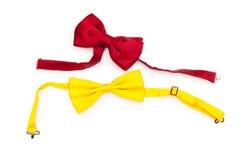 łęk odizolowywający czerwony krawat Obrazy Stock
