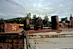 Łęk stary ośniedziały statek Obraz Royalty Free