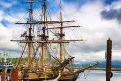 Łęki dokujący Wysocy statki Obraz Royalty Free