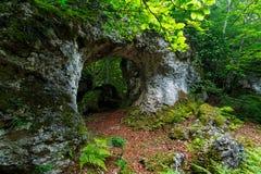 łękowata naturalna skała Fotografia Stock