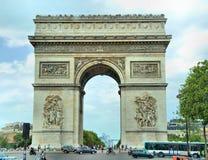 łękowatego miasta dzień krajobrazu Paris pogodny triumfalny Fotografia Stock