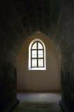 łękowaty średniowieczny okno Zdjęcie Royalty Free