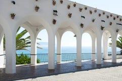 łękowaty Balcon De Europa Nerja s Obraz Royalty Free