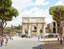 łękowaty Constantine Rome Zdjęcie Stock