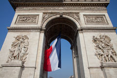 Łękowaty De Triomphe Paryż Obrazy Stock