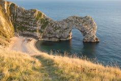 łękowaty drzwiowy Dorset durdle morze Zdjęcia Royalty Free