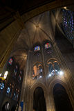 łękowaty katedralny wewnętrzny perspektywiczny widok Zdjęcia Royalty Free