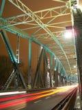 Łękowaty most w nigth Zdjęcia Stock