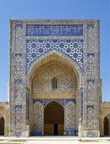Łękowaty portal Koka Gumbaz meczet, Uzbekistan Obraz Stock