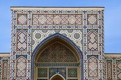 Łękowaty portal meczet, Uzbekistan Zdjęcia Royalty Free