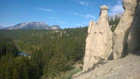 Łęku Banff góry dolinny hoodoo Fotografia Stock