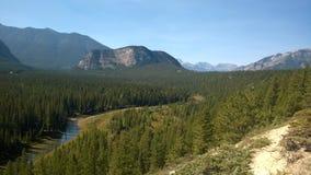 Łęku Banff rzeki dolinny tunel Fotografia Stock