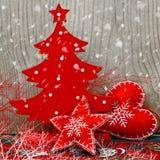 łęku bożych narodzeń dekoracj śniegu wianek Zdjęcia Stock