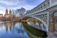 Łęku bridżowy central park Zdjęcie Royalty Free