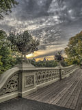 Łęku bridżowy central park Obrazy Royalty Free