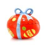 łęku ceramiczna Easter jajka odosobniona pamiątka Fotografia Royalty Free