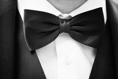 łęku czarny krawat Zdjęcia Royalty Free