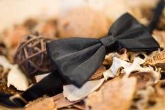 Łęku czarny krawat Obraz Stock
