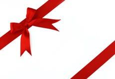 łęku czerwieni faborek Zdjęcia Royalty Free