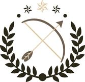 Łęku i strzała logo Obraz Stock