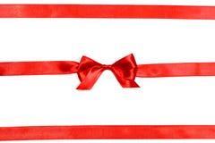 łęku ilustracyjny czerwony faborku wektor fotografia royalty free