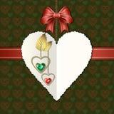 Łęku, karowego i fotograficznego papieru serce, Fotografia Royalty Free