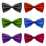 Łęku krawat barwi rocznika set Fotografia Royalty Free