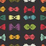 Łęku krawata bezszwowy wzór Kreskówka kolorowy wektor Zdjęcia Royalty Free