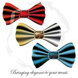 Łęku krawata diamentu modele (eps10) Obraz Royalty Free