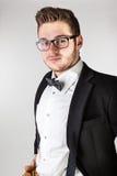 Łęku krawata facet zdjęcia stock