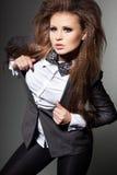 łęku krawata kobieta Zdjęcie Stock