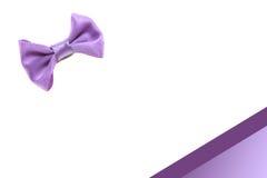 Łęku krawata rama Zdjęcia Royalty Free