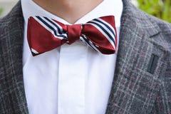 Łęku krawata zbliżenie zdjęcie royalty free