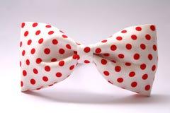 łęku kropki czerwony krawat Obraz Royalty Free