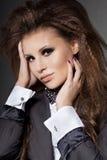 łęku modna krawata kobieta Obraz Royalty Free