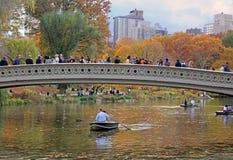 Łęku most W central park Obraz Stock