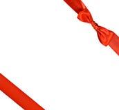łęku prezenta czerwieni faborek Zdjęcie Stock