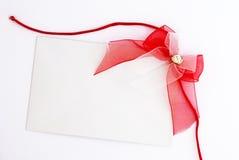 łęku prezenta czerwona etykietka Obraz Royalty Free