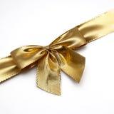 łęku prezenta złoto Zdjęcie Royalty Free