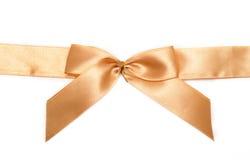 łęku prezenta złoto fotografia stock