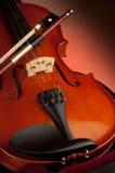 łęku skrzypce Zdjęcie Stock
