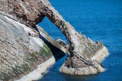 Łęku skrzypki skała przy Portknockie Fotografia Stock