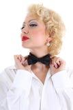 łęku target1476_0_ krawata kobieta Obraz Stock