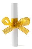 łęku złota papieru ślimacznica Zdjęcie Stock