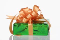 łęku zielona pomarańcze teraźniejszość Fotografia Royalty Free
